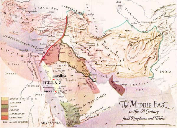 The Middle East in the 6th Century
