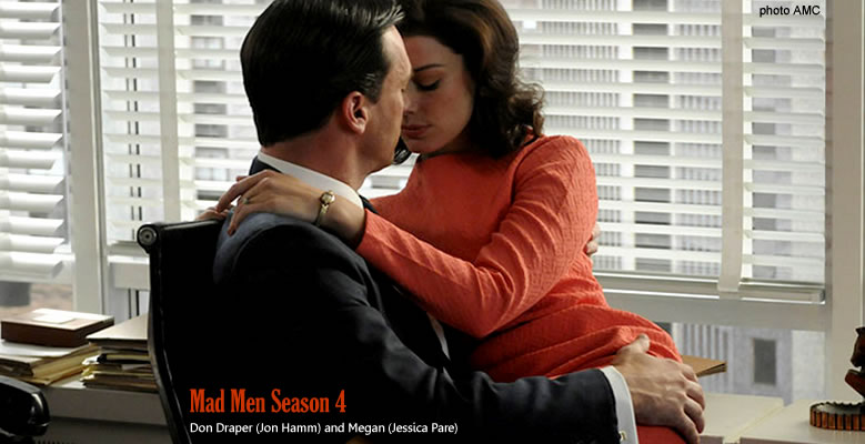 Don Draper (Jon Hamm) and Megan (Jessica Pare)